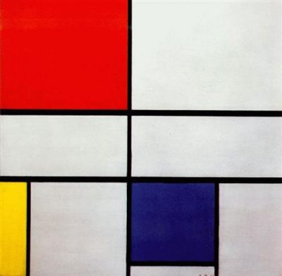 "Piet Mondrian, ""Composition C (no.iii) with Red, Yellow and Blue"" (1935), oil on canvas (Private Collection)"