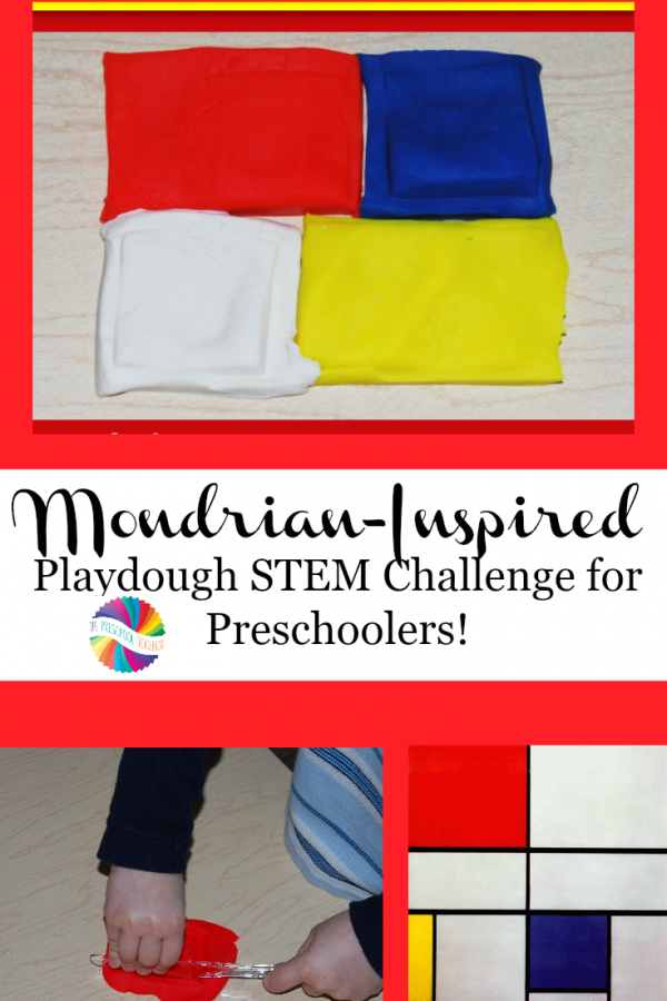 Mondrian-Inspired STEAM Playdough Challenge for Kids!