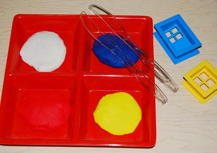 Mondrian STEAM Playdough Challenge Supplies