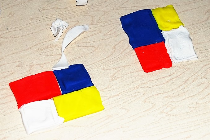 STEAM Mondrian Playdough Challenge for Kids