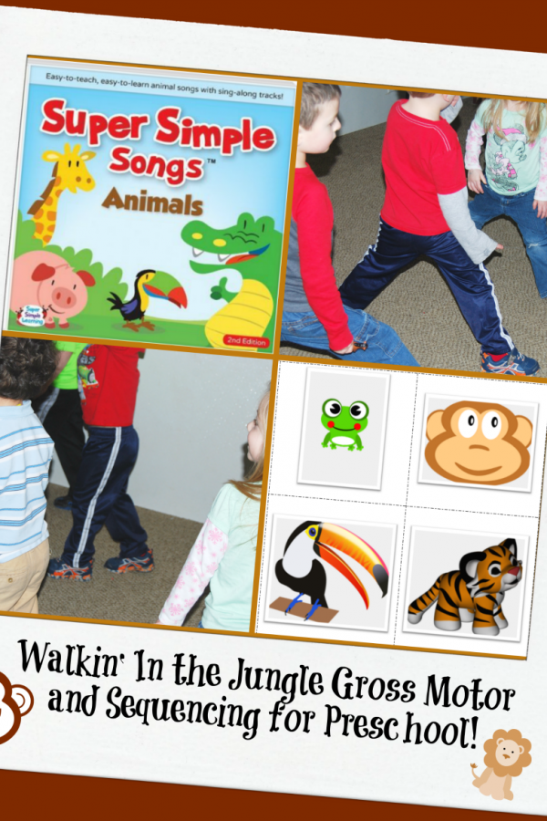Walkin' In the Jungle Gross Motor and Sequencing for Preschool!