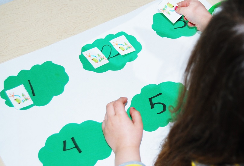 Rainforest Tree Frog Math Game for Preschool
