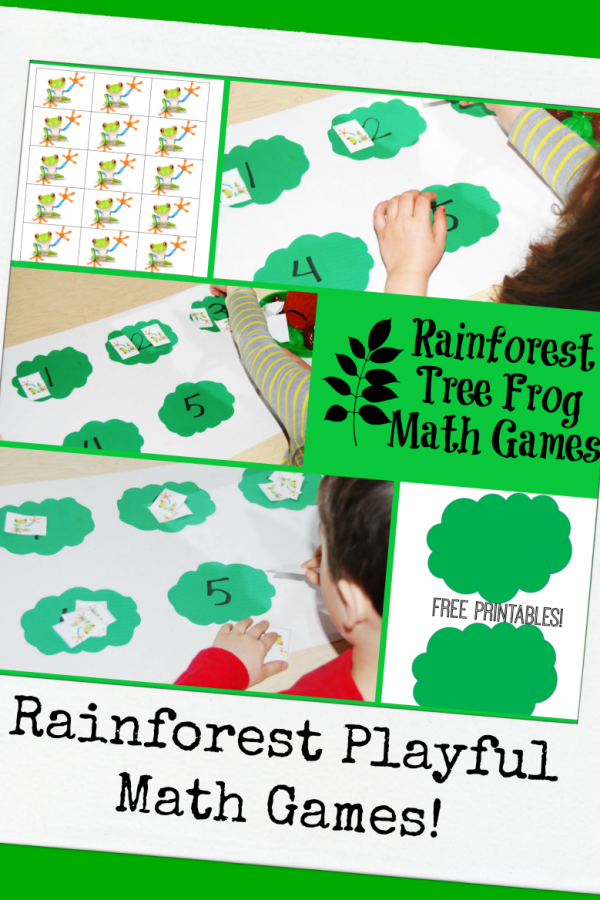 Rainforest Tree Frog Math Games for Preschoolers!