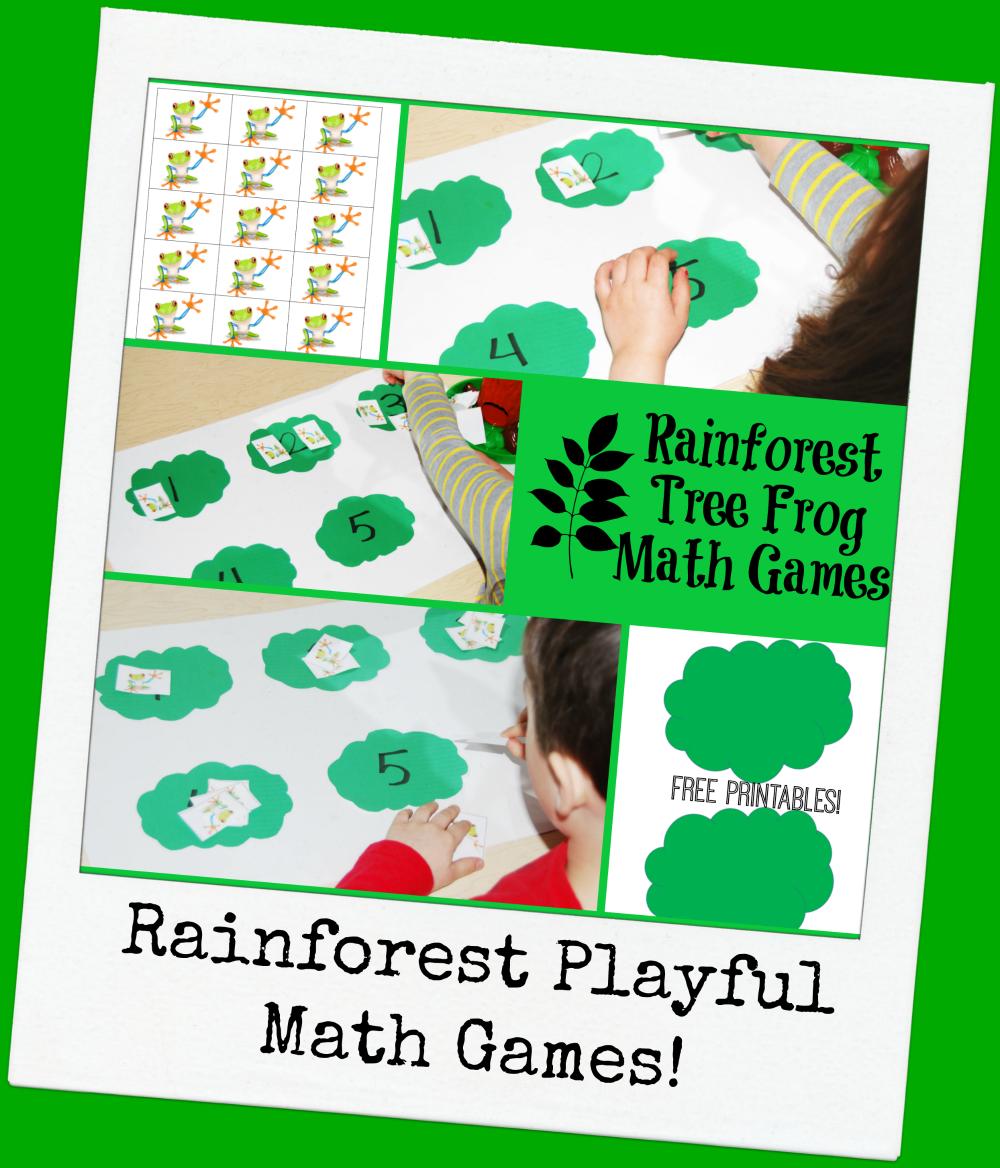 Rainforest Tree Frog Math Games for Preschoolers! • The Preschool ...