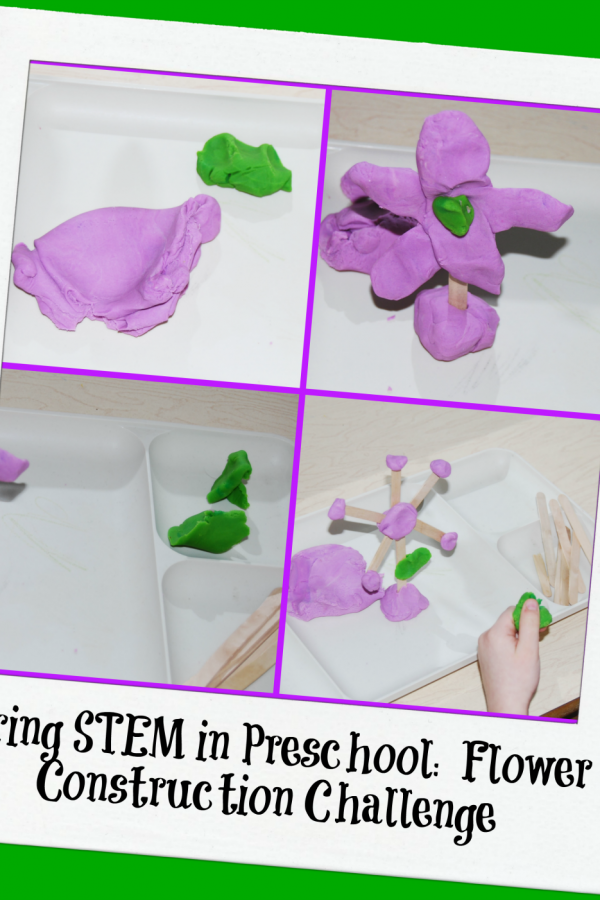 Spring STEM for Preschool: Flower Construction Challenge