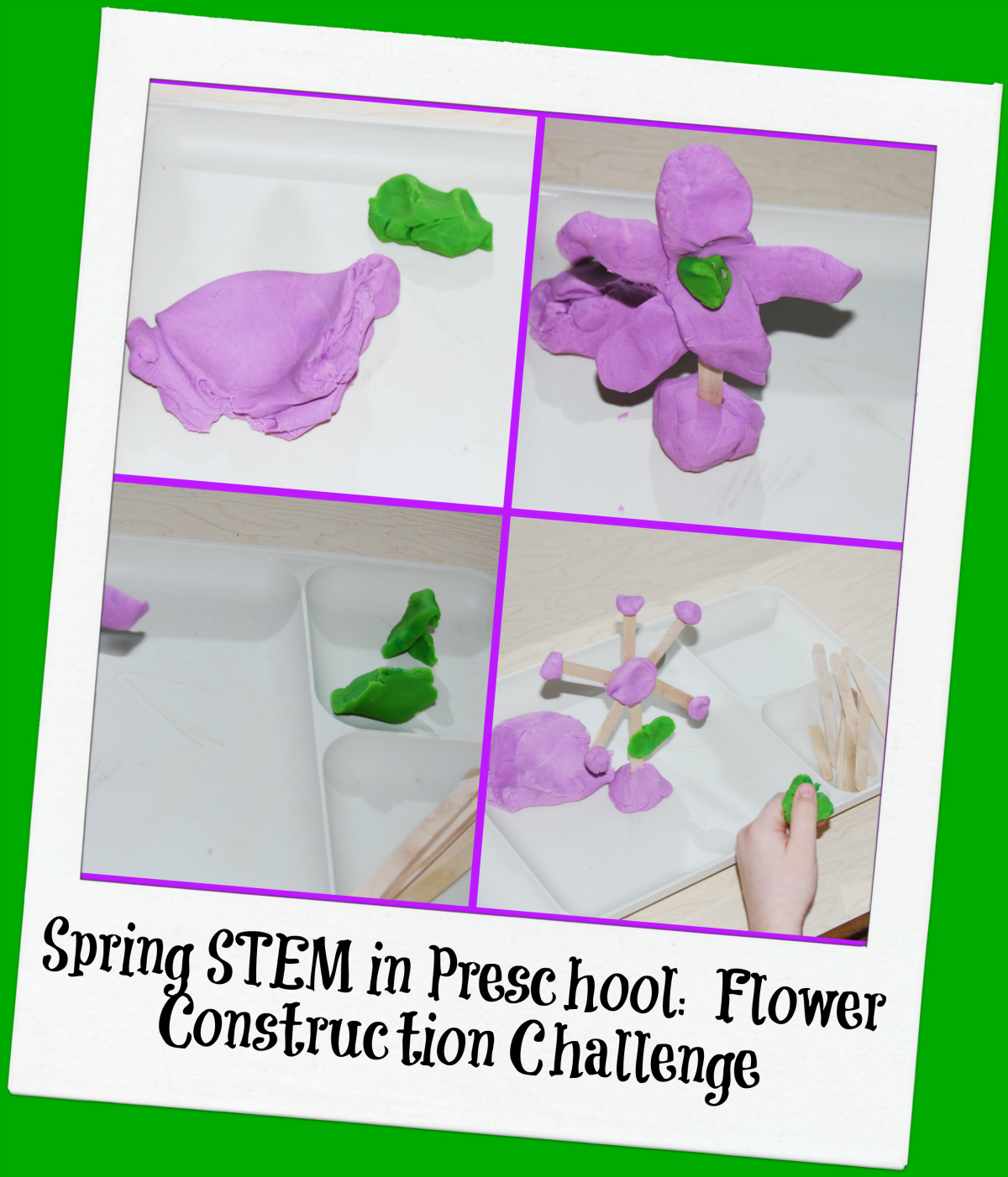 Stem School Kindergarten: Spring STEM For Preschool: Flower Construction Challenge
