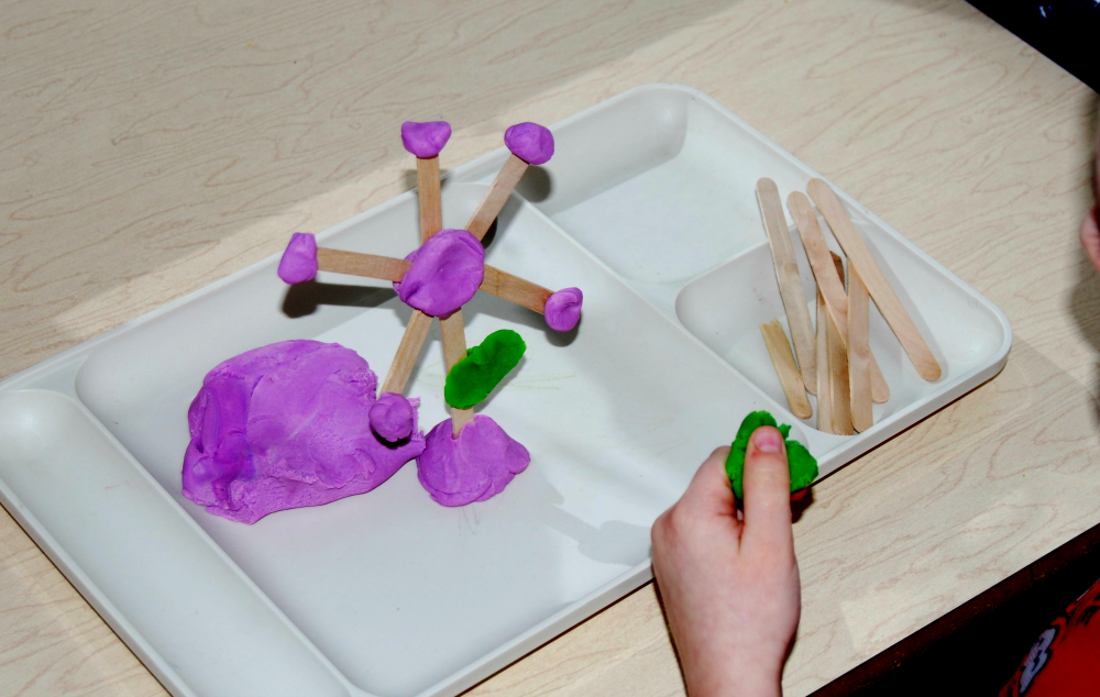 Spring STEM_Flower Construction in Preschool