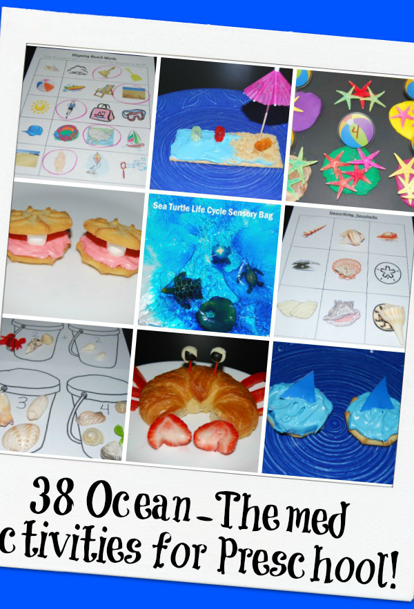 38 Ocean Themed Activities for Preschool!