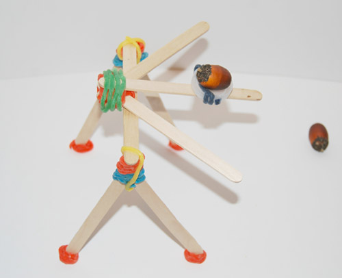 Catapult Design inspired by the 101 Coolest Simple Science Experiments by Holly Homer, Jamie Harrington, and Rachel Miller