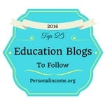 Voted Top 25 Education Blogs to Follow in 2016