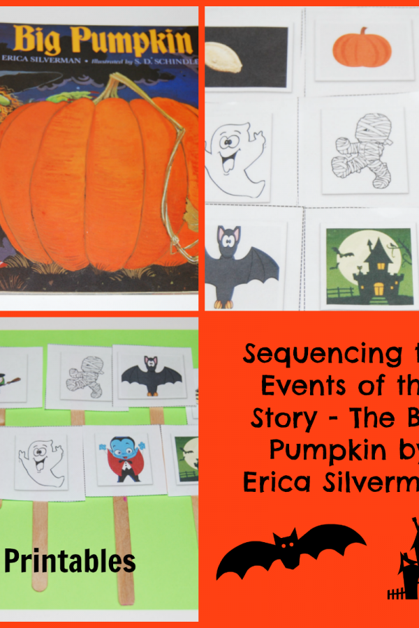The Big Pumpkin by Erica Silverman:  Sequencing in Preschool!
