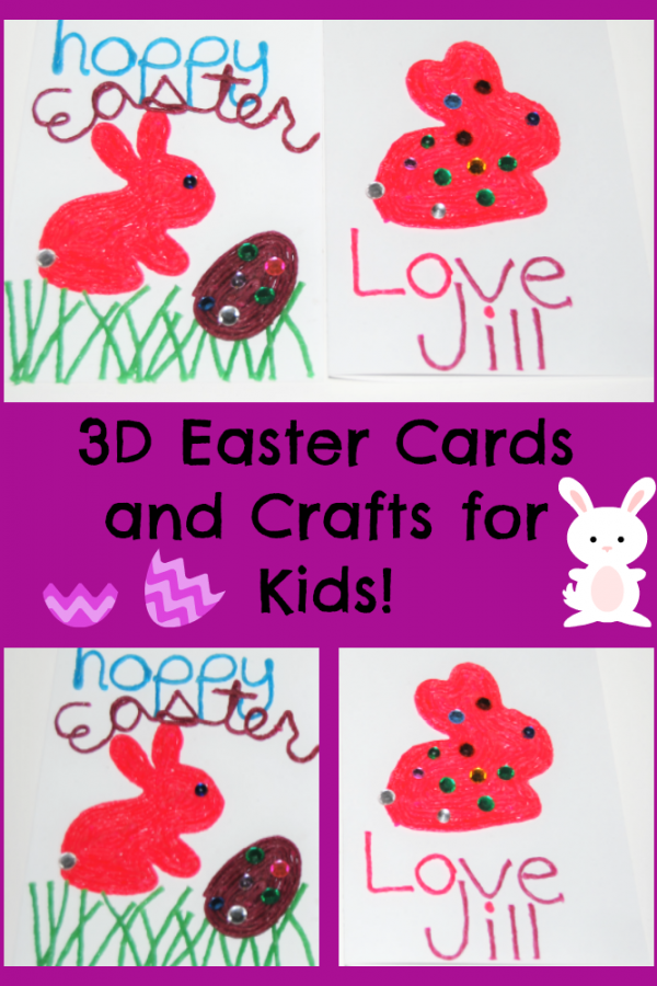 3D Easter Card Crafts Kids Can Make! #Wikkistix