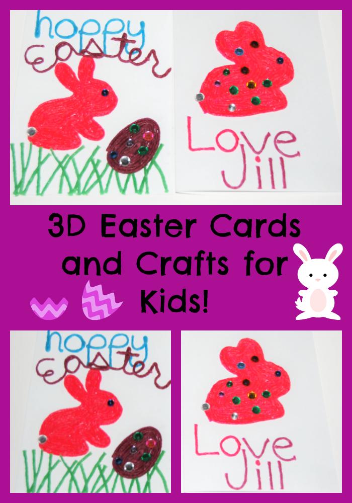 3d easter card crafts kids can make wikkistix the preschool 3d easter crafts and cards kids can make m4hsunfo