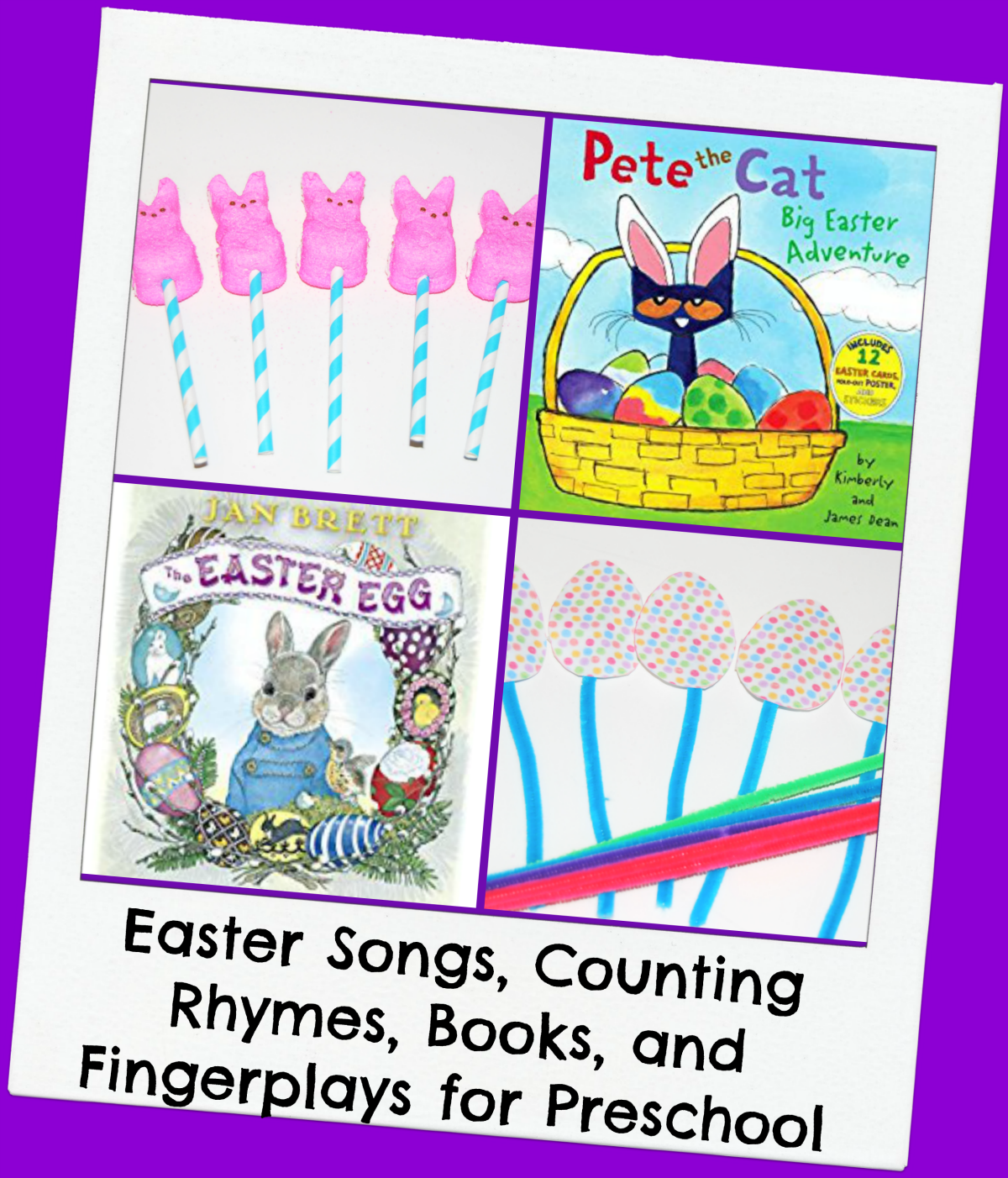 preschool songs about books easter songs counting rhymes finger plays and books for 787