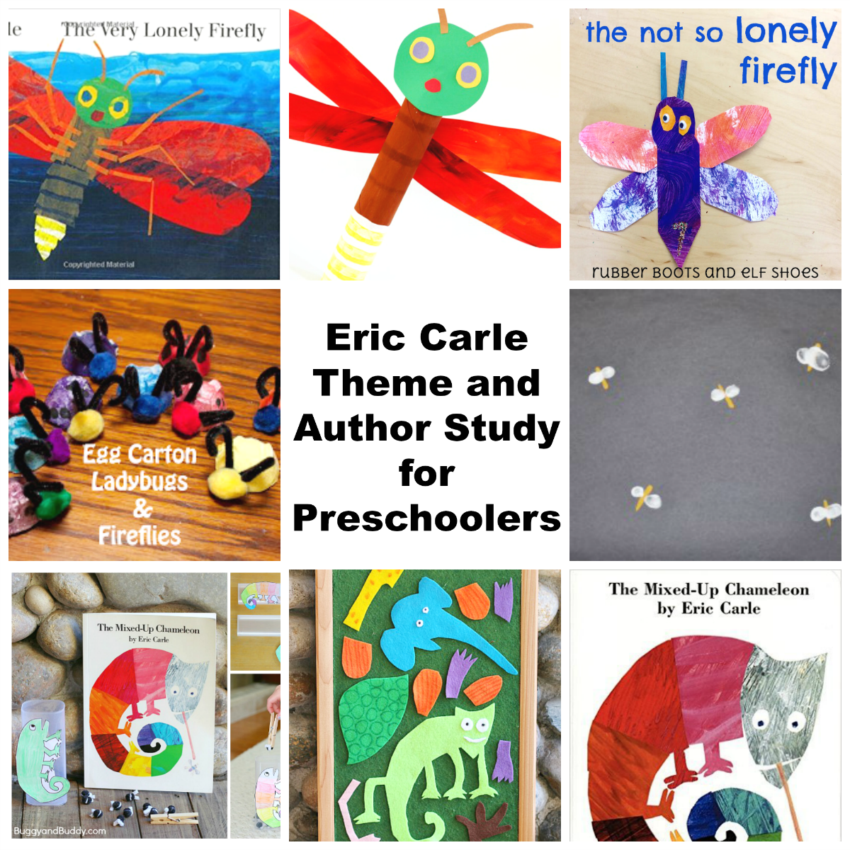 Eric Carle Theme and Author Study for Preschoolers