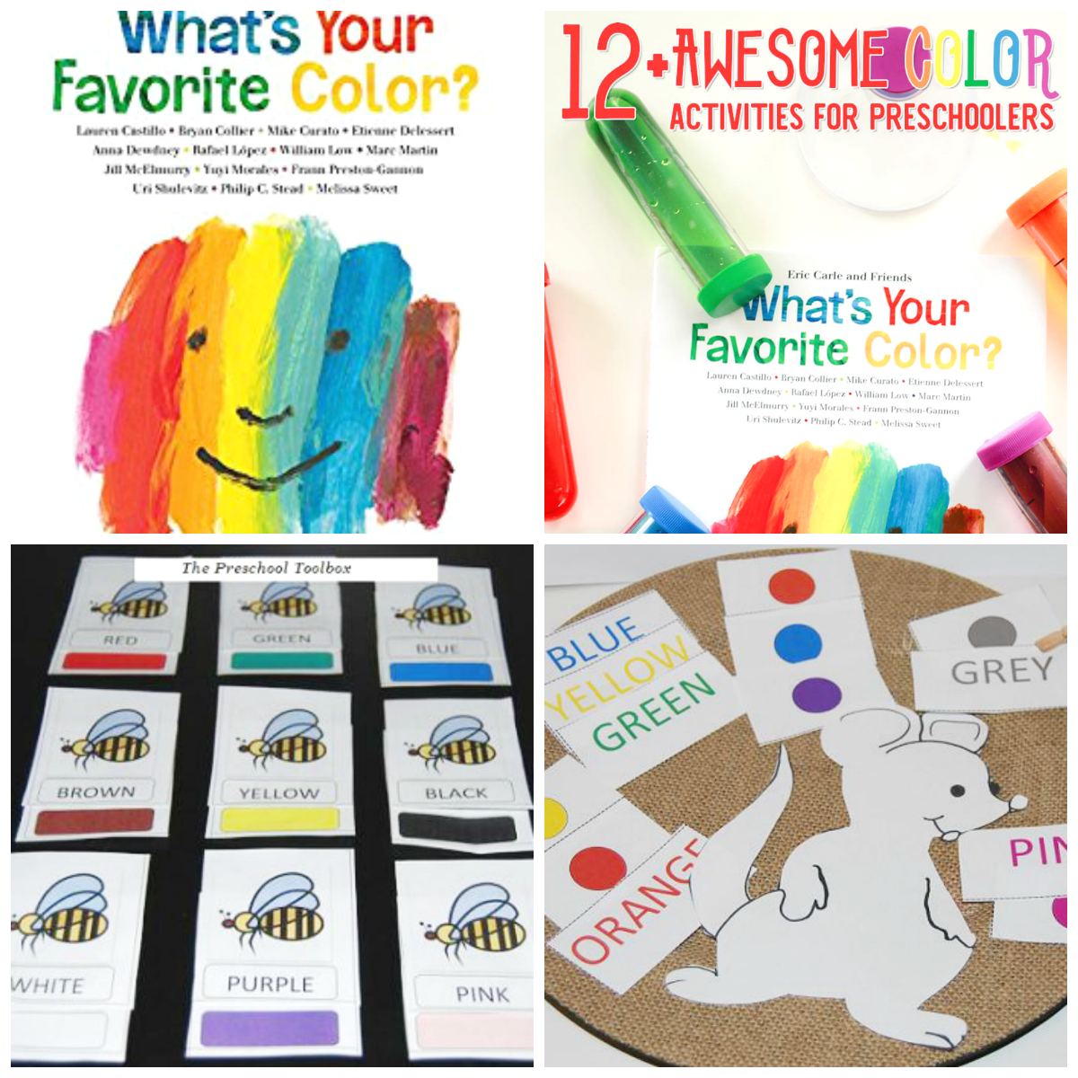 What's Your Favorite Color by Eric Carle - Activities for Preschoolers