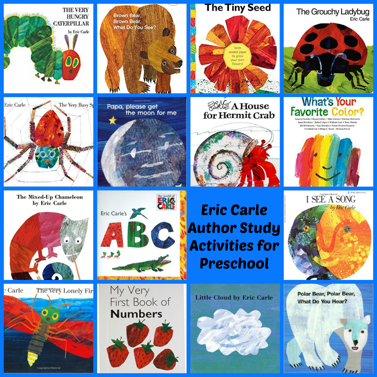 Eric Carle Books for Preschoolers!