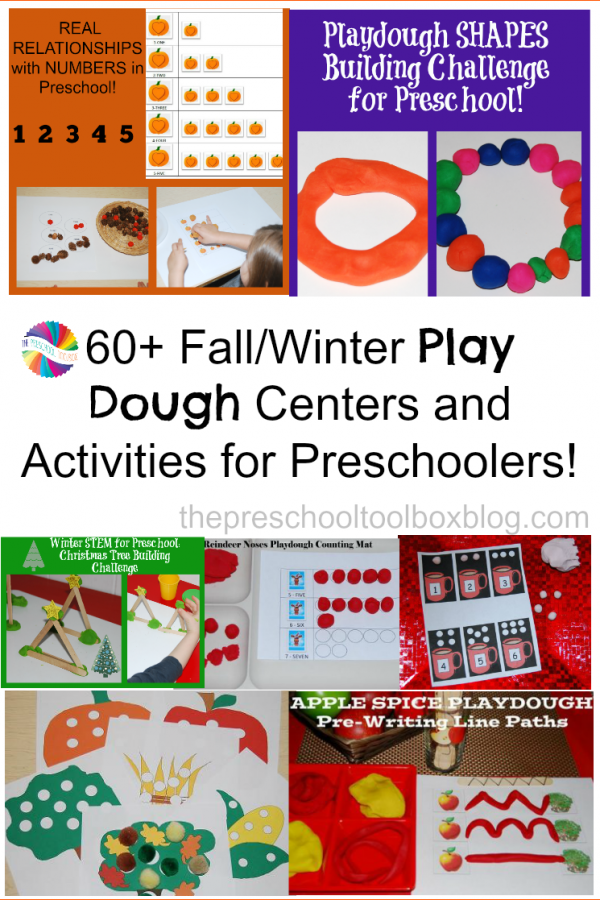 60+ Play Dough Fall/Winter Centers and Activities for Preschool!