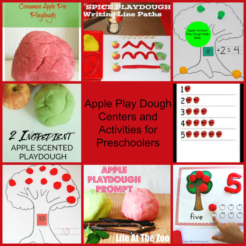 Apple-Themed Play Dough Centers and Activities for Preschoolers