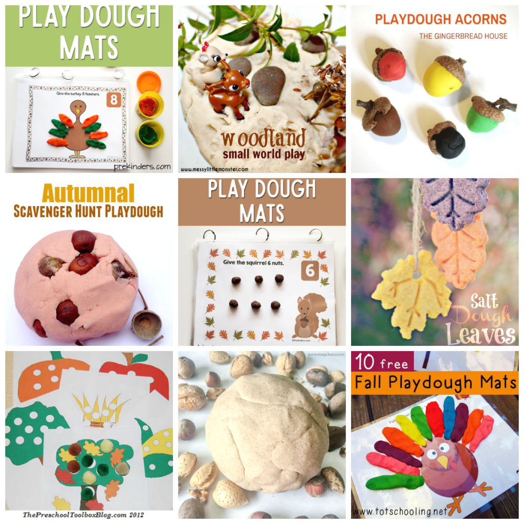 Autumn Play Dough Activities for Preschoolers