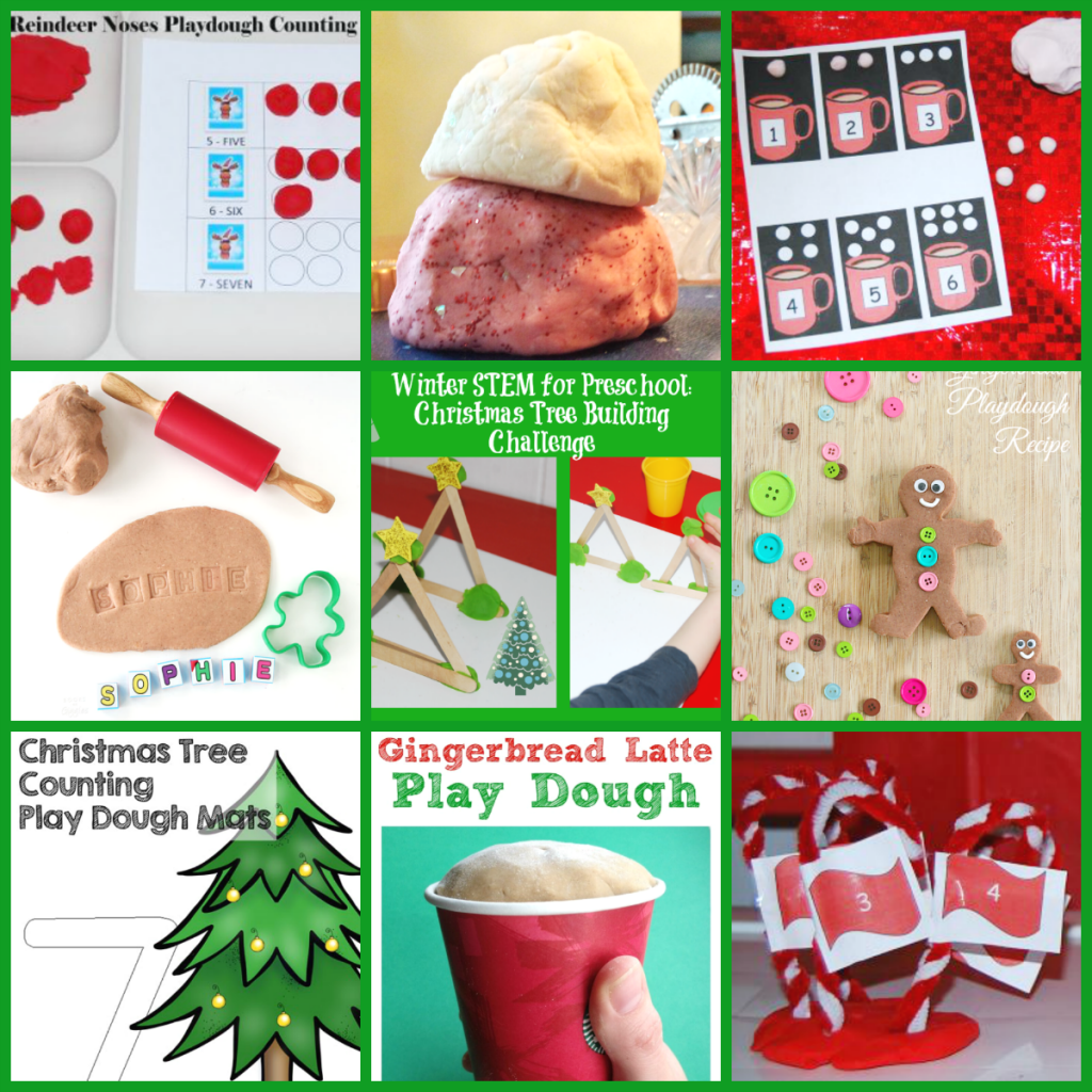 Christmas Playdough Centers and Activities for Preschoolers