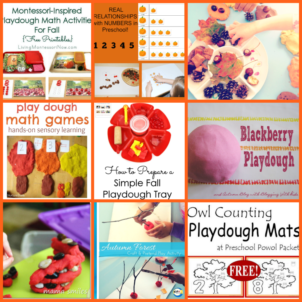 Fall Play Dough Centers for Preschool