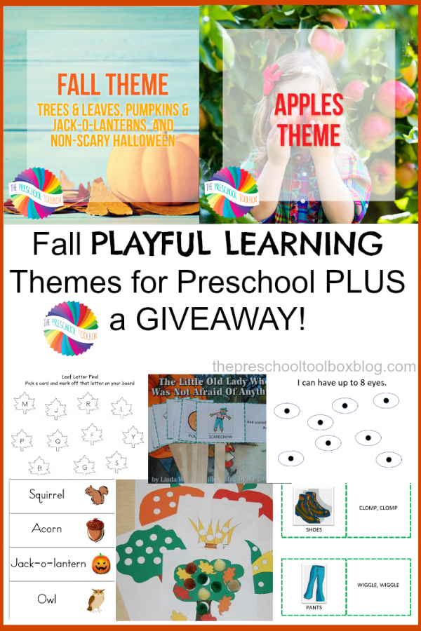 Fall Theme for Preschoolers: Playful Learning ALL Season Long + 3 THEMATIC UNITS GIVEAWAY!