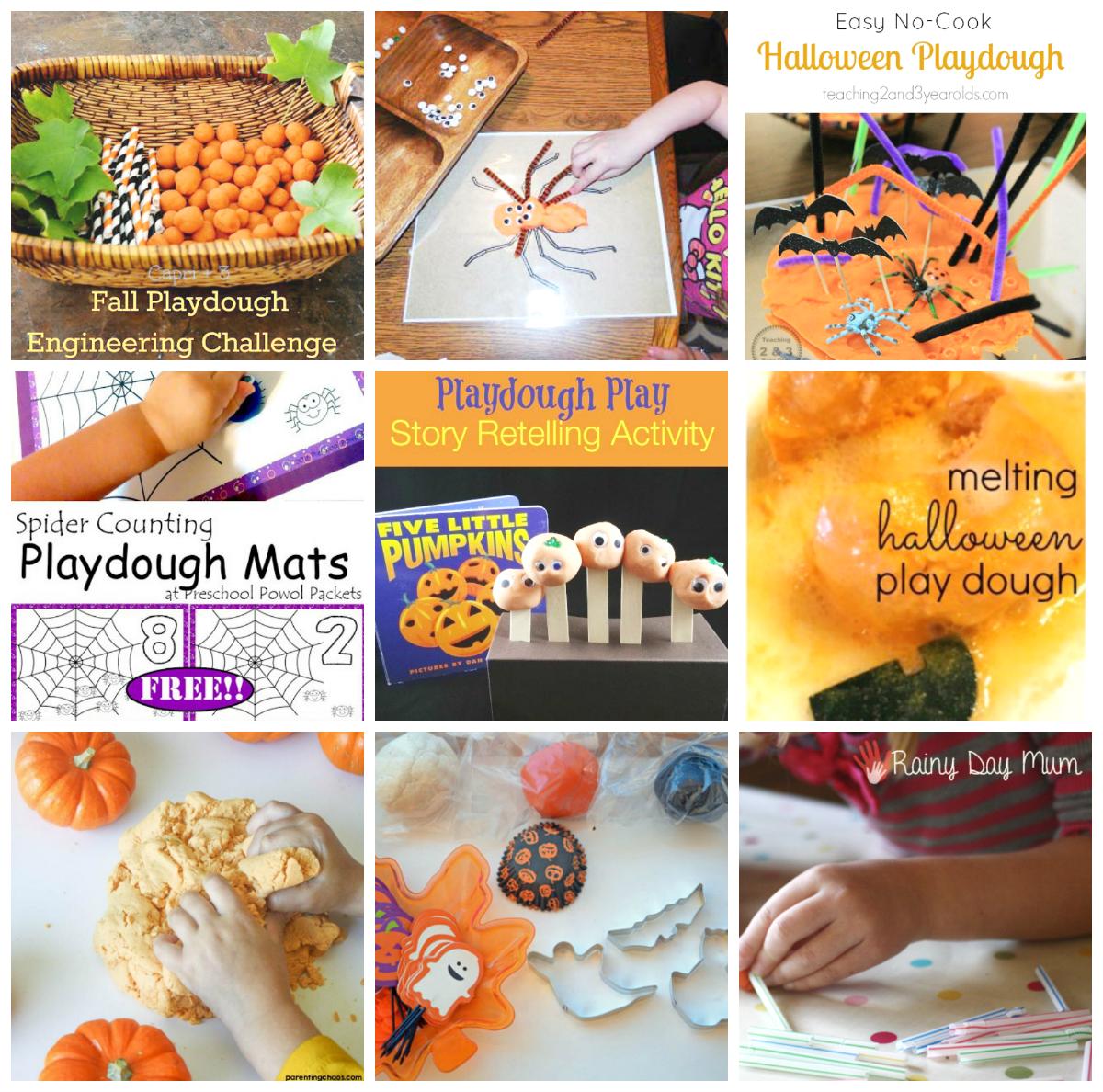 Halloween Play Dough Center Ideas For Preschool