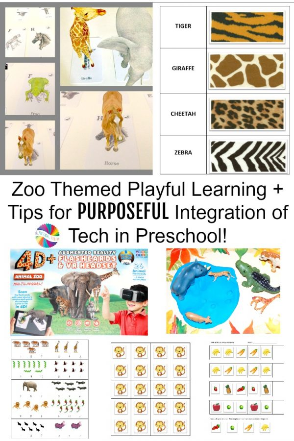 Zoo Animals Theme + Intentional Tech in #Preschool with Utopia 360 #AR #VR