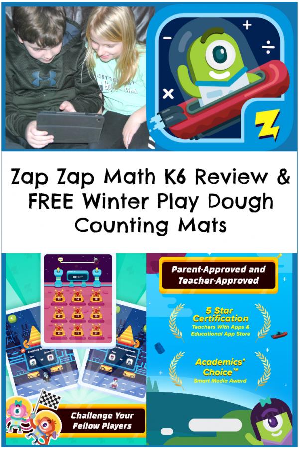 Zap Zap Math K-6 Review + Printable Winter Counting Mats #ZapZapMath
