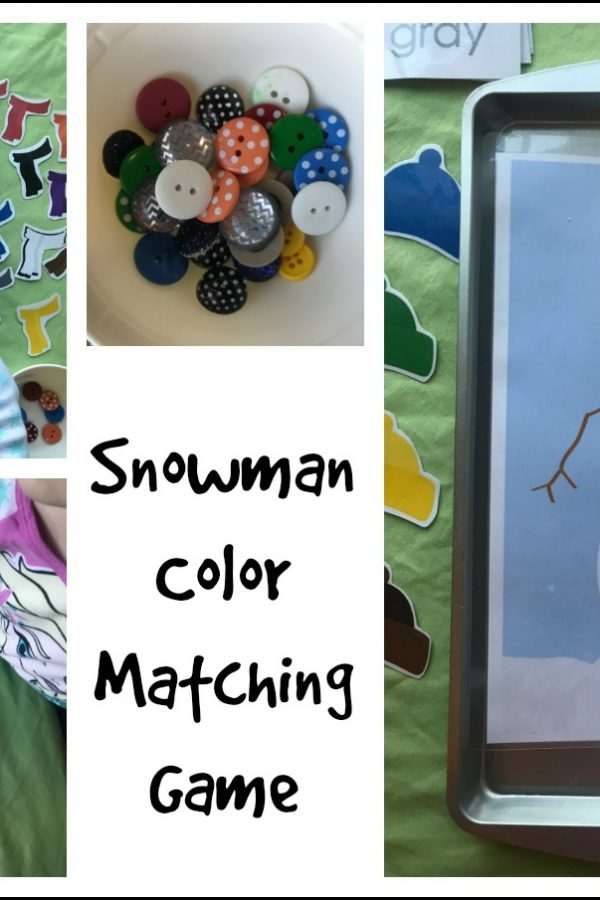Free Snowman Color Matching Activities for Preschoolers!