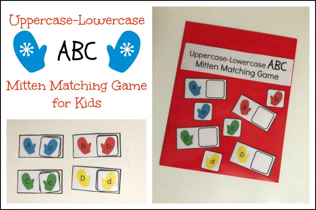 Free Mitten-Themed Letter Matching Activity for Preschoolers • The ...
