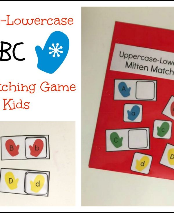 Free Mitten-Themed Letter Matching Activity for Preschoolers