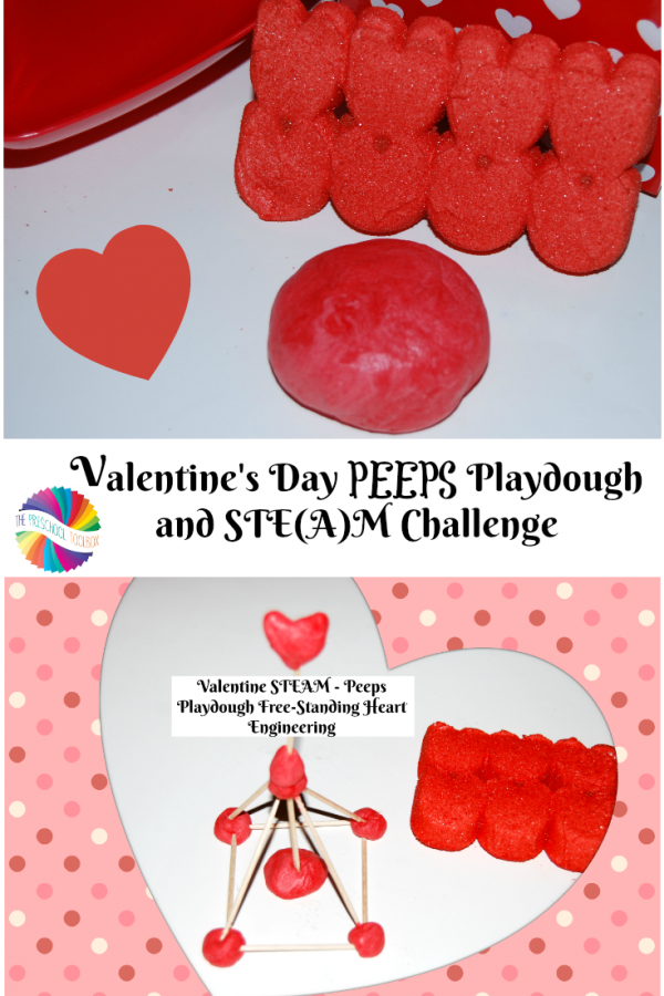 Valentine's Day STEAM: PEEPS Playdough and Heart Engineering Challenge!