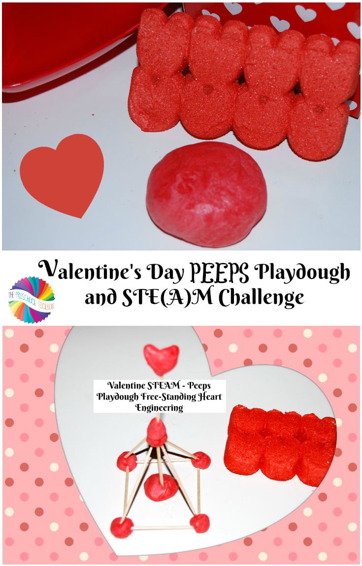 Valentines Day Steam Peeps Playdough And Heart Engineering