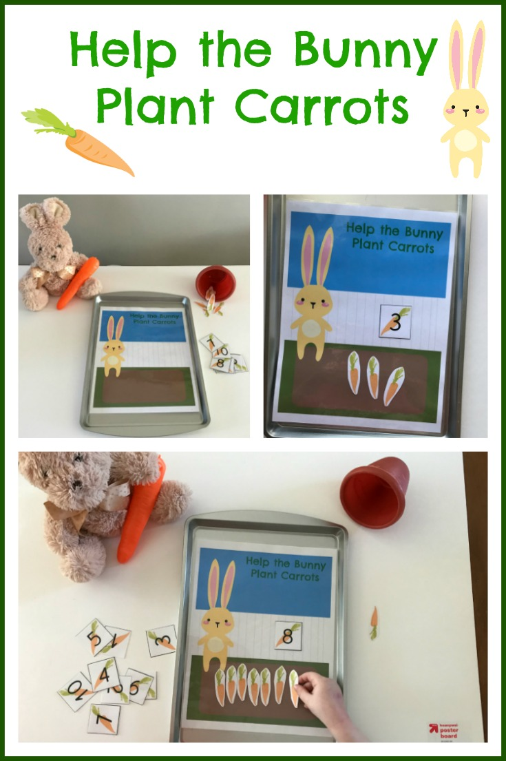 Help the Bunny Plant Carrots for a FUN way to encourage preschool math skills