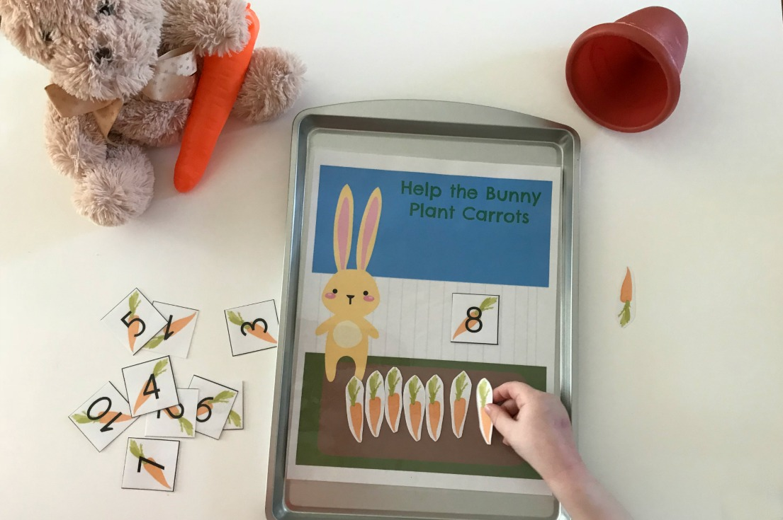 Spring Math for #Preschoolers: Help the Bunny Plant Carrots • The ...