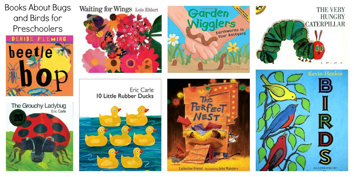 Books about Bugs and Birds for Preschool