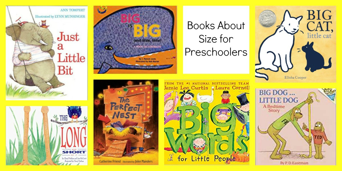 Preschool Books about Big and Little Things