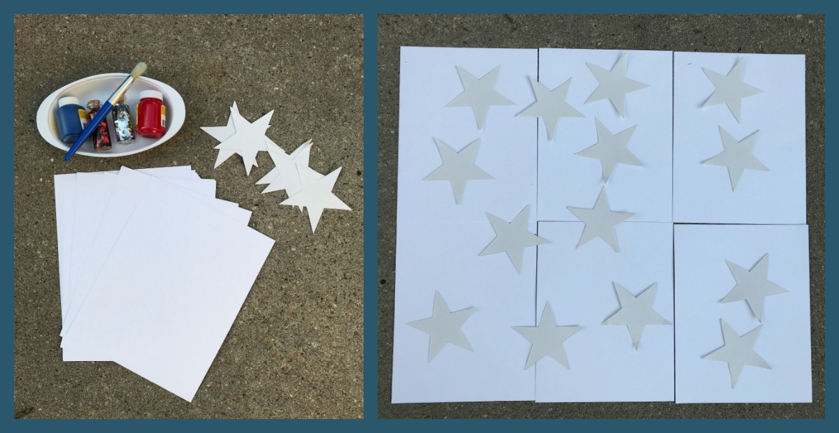 Come play and create splatter paint art for the 4th of July with preschoolers.
