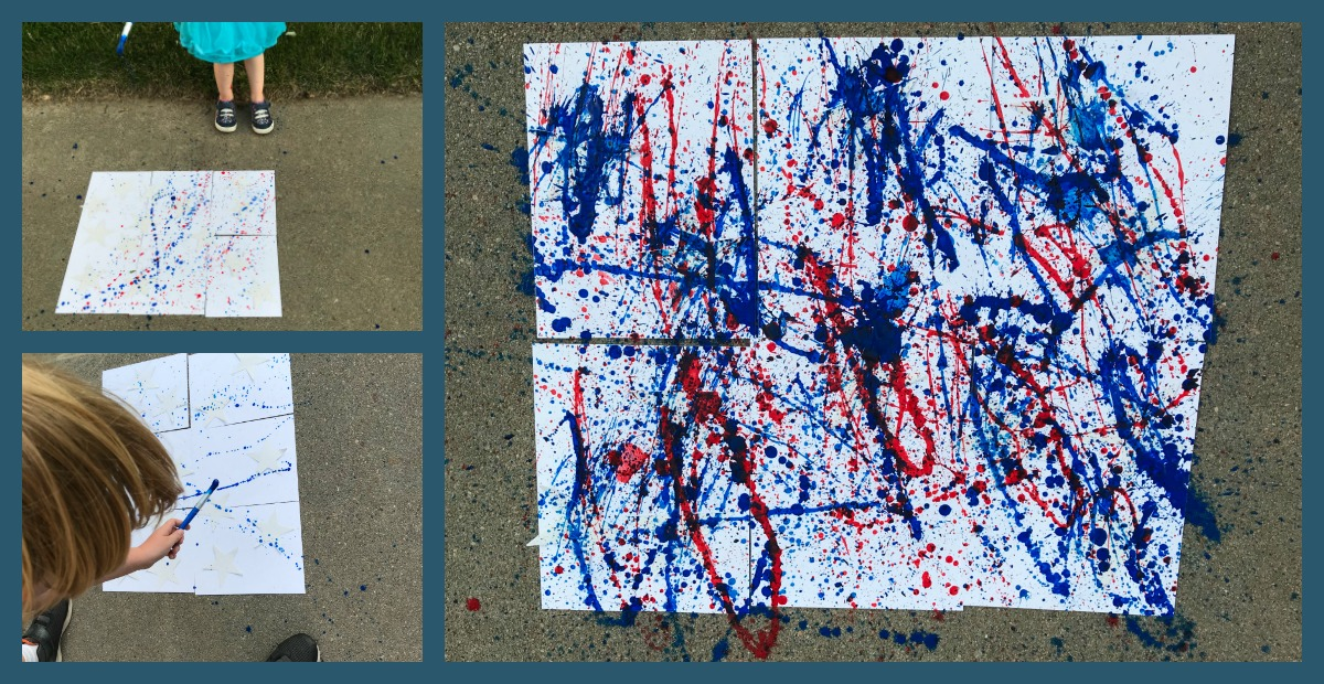Come get messy with 4th of July Splatter Paint Art for Kids.