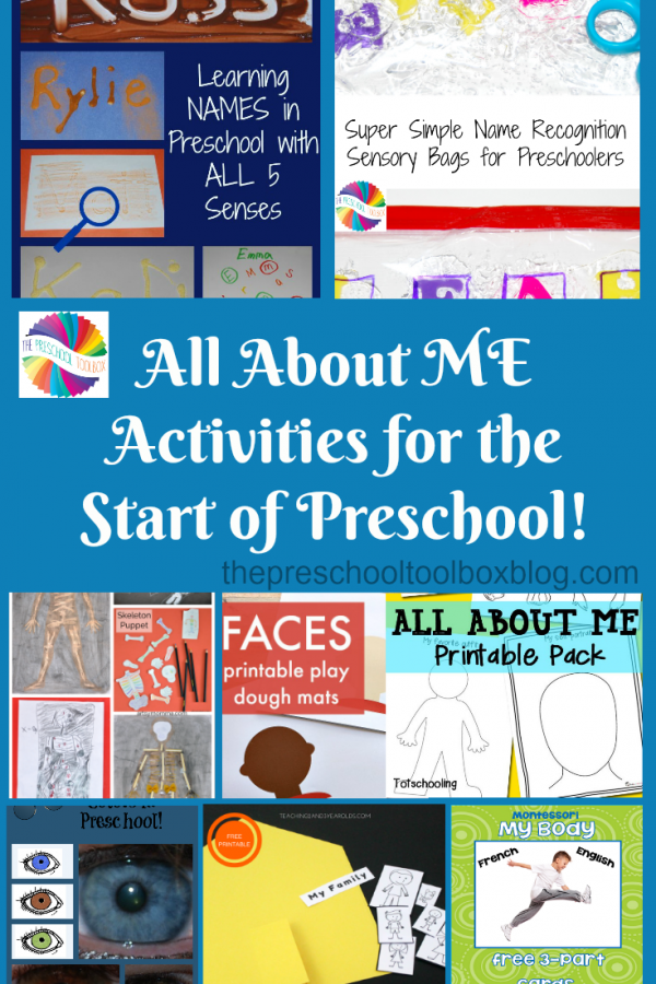 All About Me Activities for the Start of Preschool!