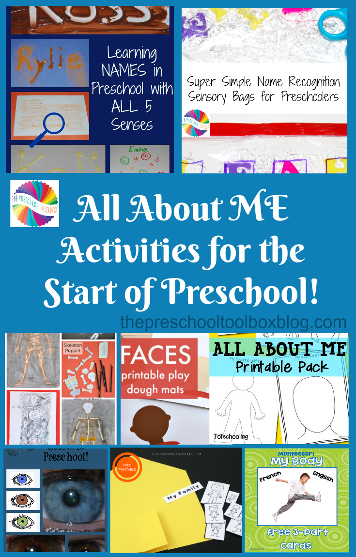 Come learn and play with an ALL ABOUT ME theme for preschoolers.