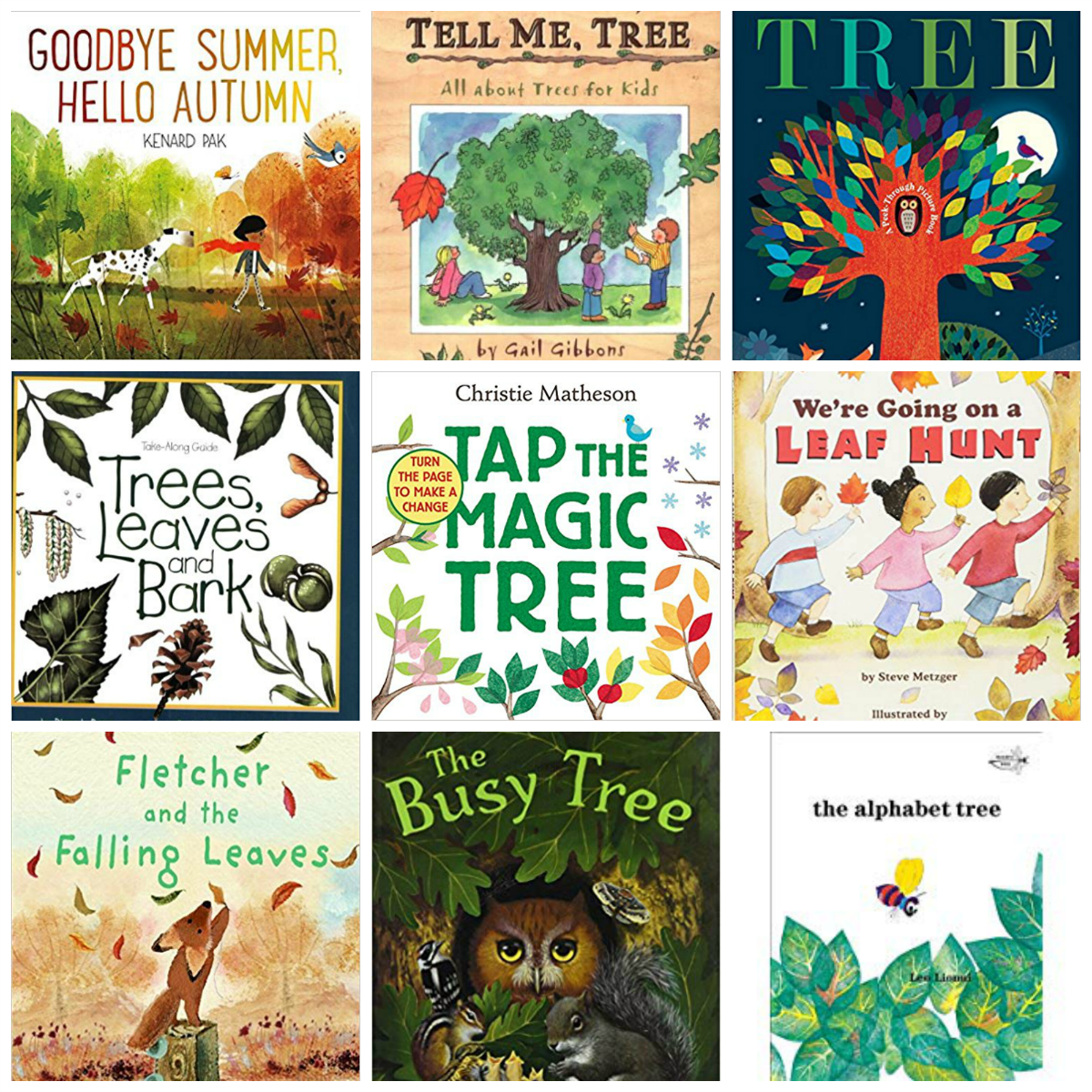 Preschool Books About Trees and Fall Leaves