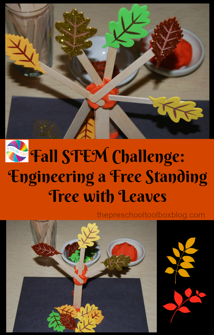 Engineer a simple free standing fall tree with simple supplies.