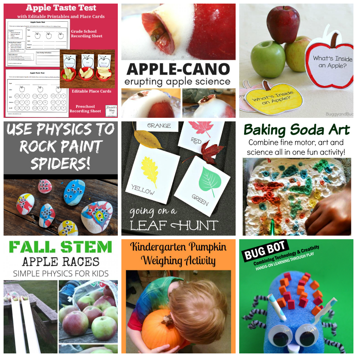 Fall STEM and STEAM Explorations for Kids.