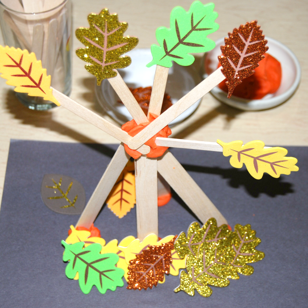 Tree with Leaves Fall STEAM Challenge for Preschoolers