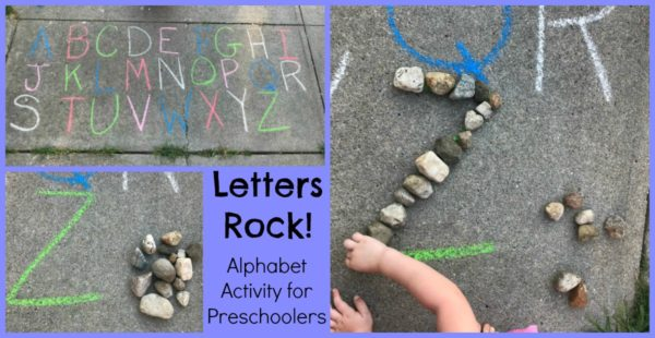 Rocks and Chalk Activities for Preschoolers