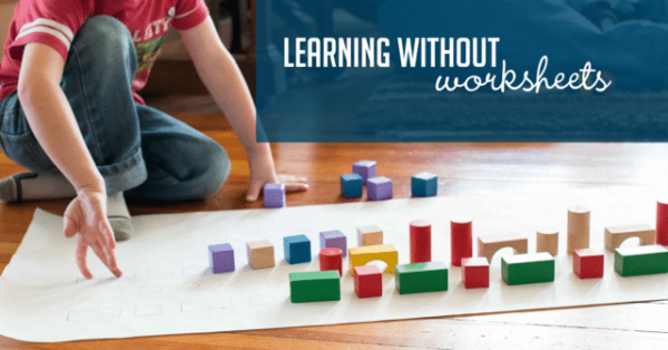 FREE Learning without Worksheets Preschool Challenge from Hands On As We Grow