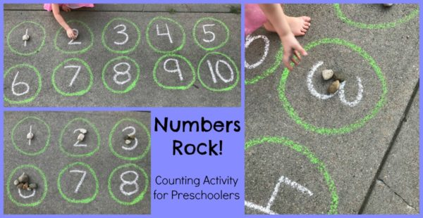 Playing and Learning with Rocks and Chalk in Preschool
